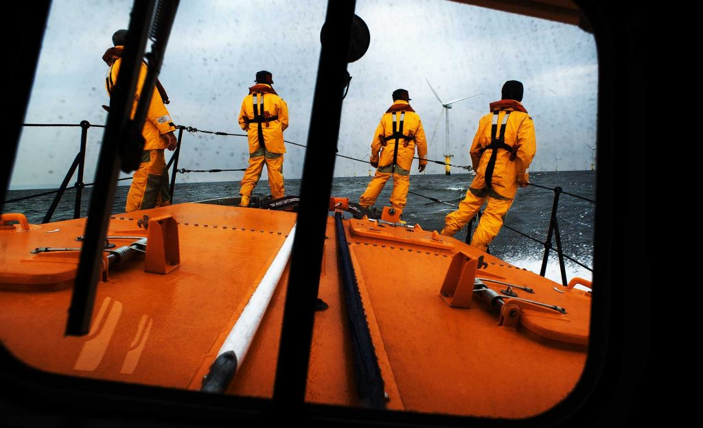 Search and Rescue Lifeboat Windfarm