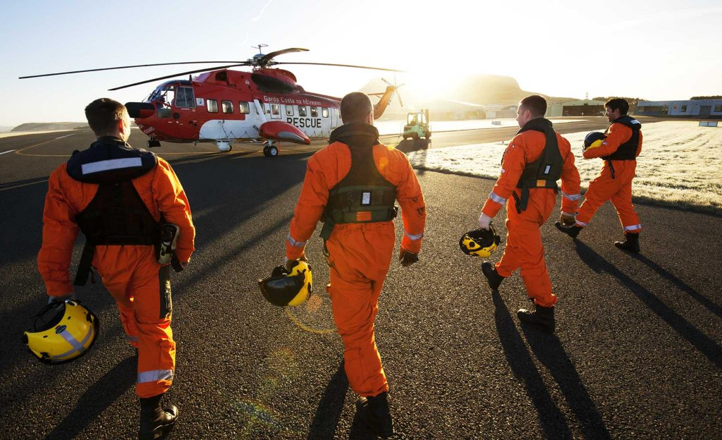Search and Rescue Helicopter Crew Irish Coast Guard